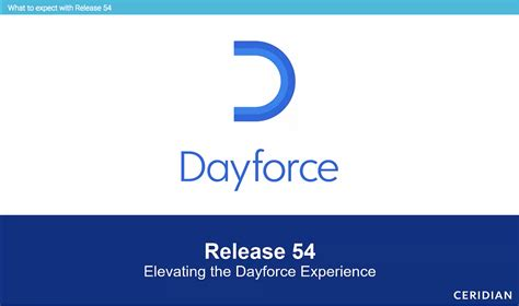 Elevate the Dayforce experience with Release 54