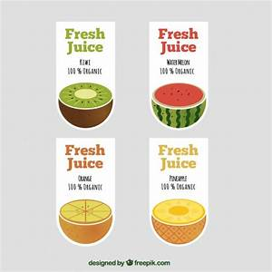 Amazing labels for fruit juices Vector | Free Download