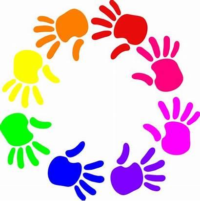 Colorful Hands Clip Clipart Circle Cliparts Faith