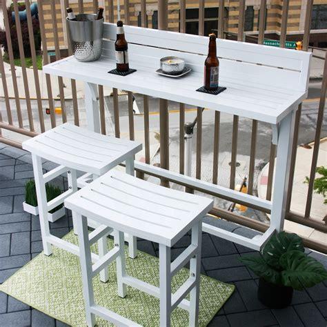 Small Balcony Furniture Sets by Miyu Furniture 3 Balcony Bar