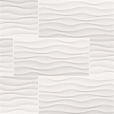 white wavy tile dymo wavy white 12x24 glossy ceramic tile