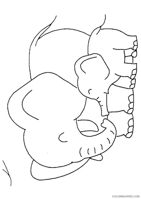 hard coloring pages baby elephant coloring pages