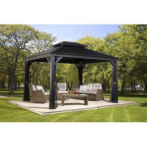 costco outdoor canopy gazebo design permanent 1 gazebos costco hardtop gazebo