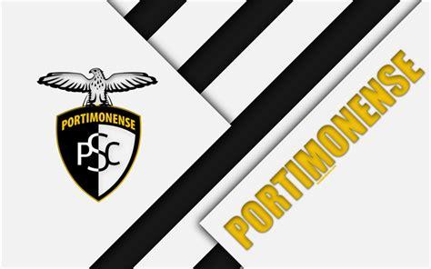 Download wallpapers Portimonense SC, white black ...