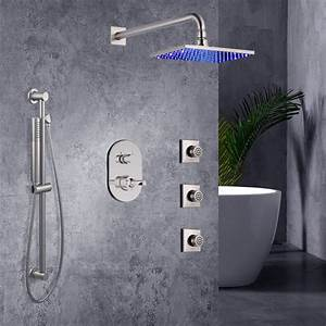 Buy Square Wall Shower With Jet Spray And Handshower