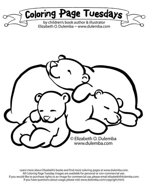 sleeping bears coloring page hibernating bear craft bear coloring pages animals  hibernate