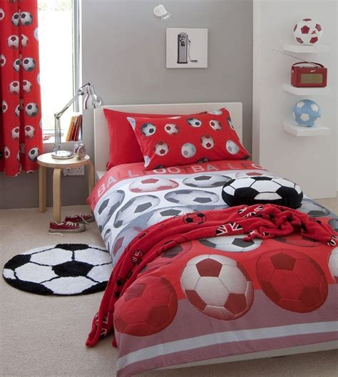 Football Bed by Football Bedding Black White Soccer Friends Footy Kid