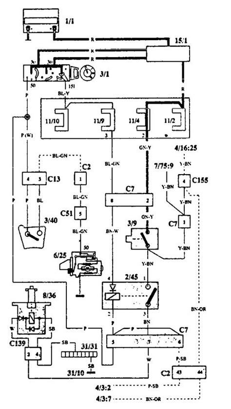 volvo 940 1993 wiring diagrams shift interlock carknowledge