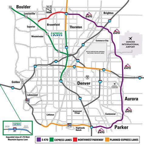Denver Colorado Toll Roads Maps