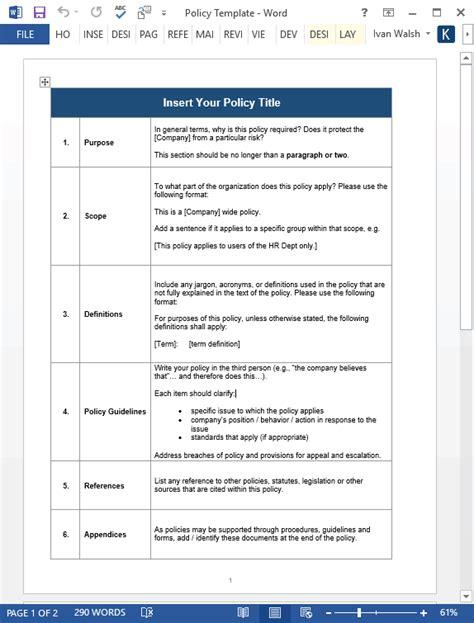 employee handbook template   pg ms word
