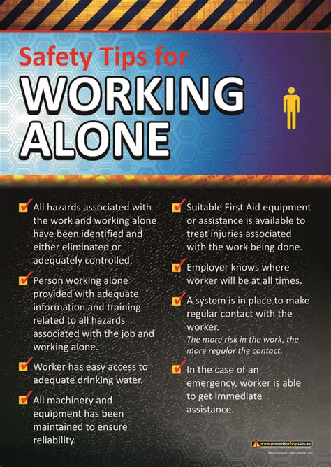 working  workplace safety poster workplace safety