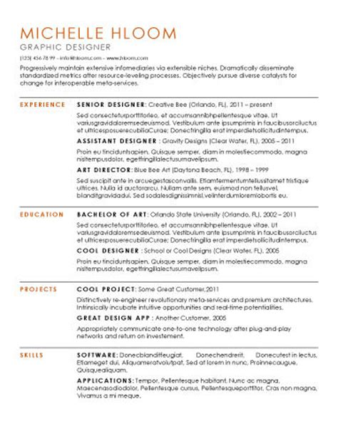 resume one employer locations 15 modern design resume templates you can use today