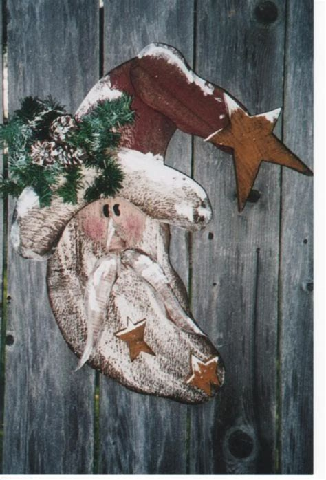 wood craft christmas santa pattern pattern wc308