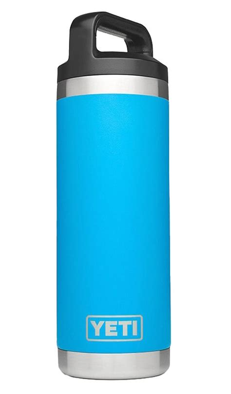 yeti tahoe blue rambler  oz water bottle yrambtb