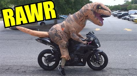All Riders Fear The Mighty T-rex!