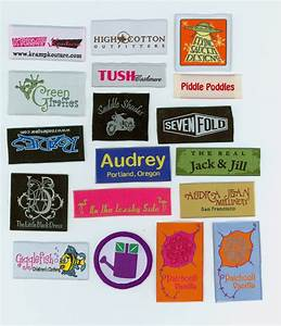 direct factory woven garment label clothing woven label With clothing product labels
