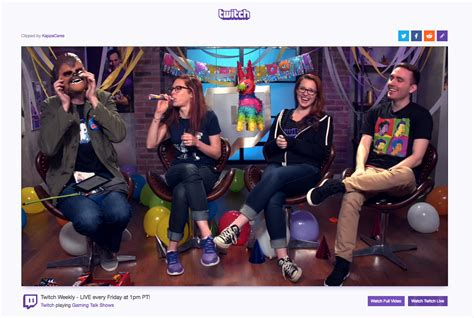 Twitch Launches Clips So Gamers Can Quickly Share Short