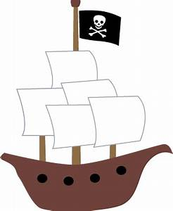 Cute pirates ship clip art shiver me timbers pinterest for Pirate ship sails template