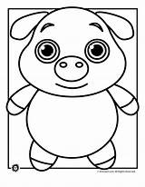 Pig Coloring Animal Template Printable Pigs Templates Face Outline Pot Colouring Drawing Bellied Sheet Farm Funny Animals Wild Shape Getdrawings sketch template