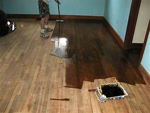 How to refinish wood floors 11 cool diys shelterness for How to restain wood floors