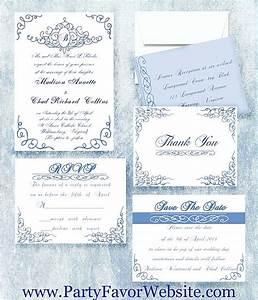 royal blue scrolllandmark wedding invitations wedding With blue line wedding invitations