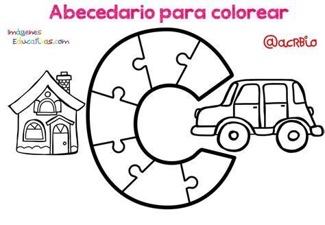 Abecedario para colorear (3) Imagenes Educativas