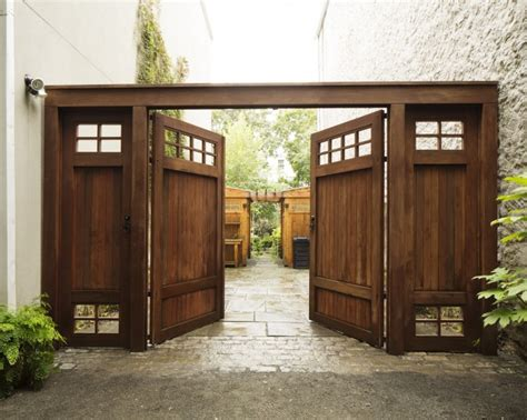 wide garden gates before and after a brooklyn townhouse with a double wide garden gardenista