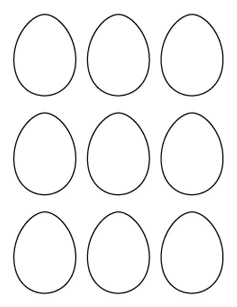 Small Easter Egg Template by Free Easter Patterns For Crafts Stencils And More Page 2