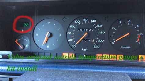 volvo original  temperature gauge kit install