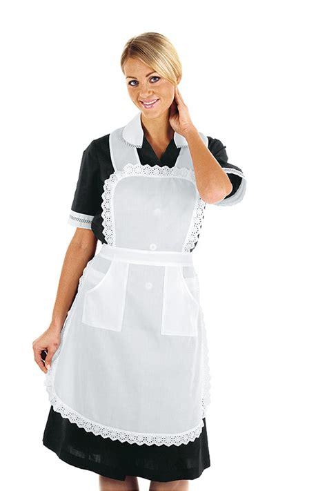 tablier femme de chambre tablier blanc de gouvernante hotellerie femme de chambre