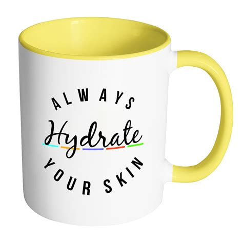 Do caffeinated drinks affect the water intake we're told to be drinking every day? Always Hydrate Your Skin Coffee Mug   Mugs, Coffee mugs ...