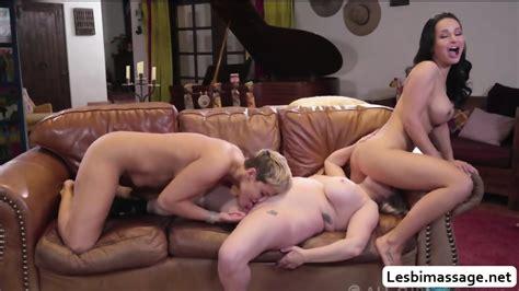 Three Lovely Hot Lesbian MILFs Tries Threesome Oral Sex