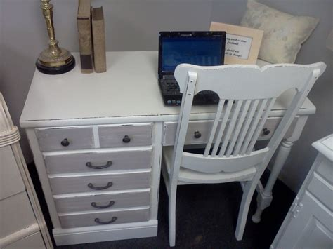 shabby chic desk chair vintage shabby chic desk w chair handpainted furniture