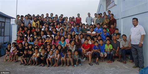 Ziona Chan Has 39 Wives, 94 Children And 33 Grandchildren