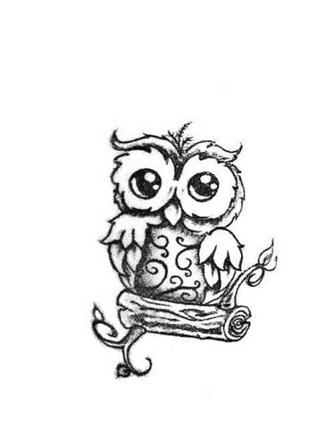50+ Cute Baby Owl Tattoos