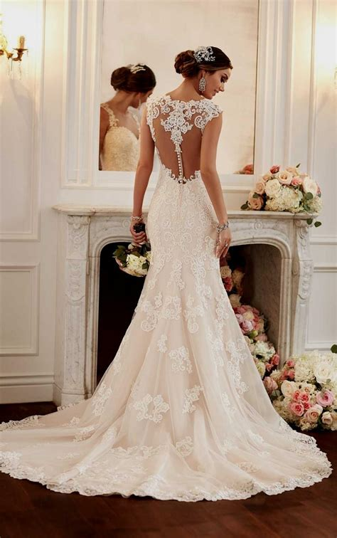 Lace Backless Mermaid Wedding Dresses Naf Dresses