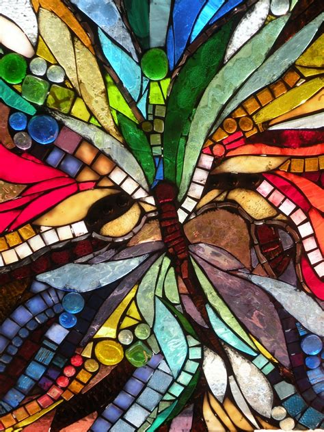 glass mosaic butterfly mosaics 3