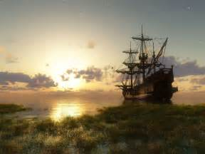 Old Ships Desktop Wallpaper