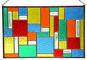 """Stained Glass Window Panel, Hanging Glass Panel,""""Color ..."""