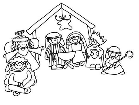 Kerststal Kleurplaat Olwassen by Kleurplaat Kerststal Thema Kerst Nativity Digital