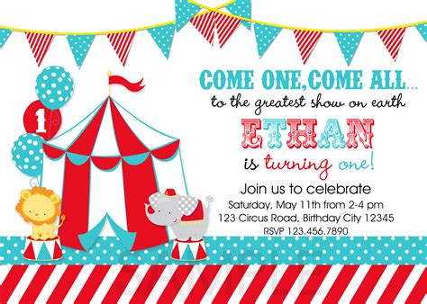 invitation party templates circus party invitations template best template collection