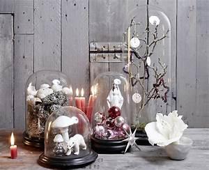 Schöner Wohnen Tischdeko : weihnachtsschmuck unter glasglocken sch ner wohnen ~ Markanthonyermac.com Haus und Dekorationen