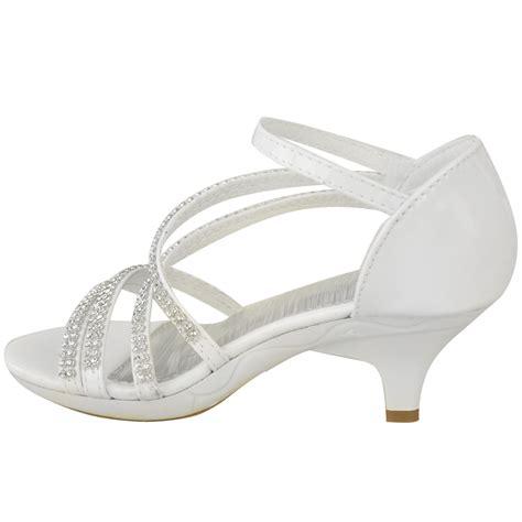 womens ladies girls  heel bridal wedding sandal