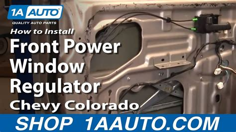 install replace front power window regulator