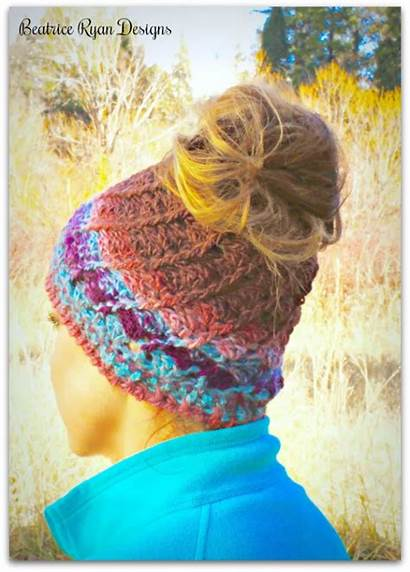 Crochet Bun Hat Pattern Messy Boreal Beatriceryandesigns