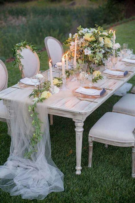 Tulle Runner Table Linens In 2019 Outdoor Wedding