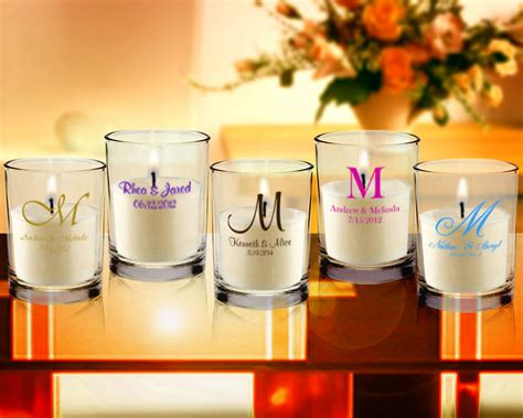 Monogram Personalized Clear Candle Favors