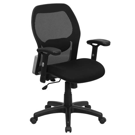flash mesh office chair with black fabric seat by oj