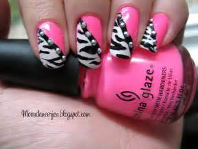 Moondancerjen s nails hot pink zebra