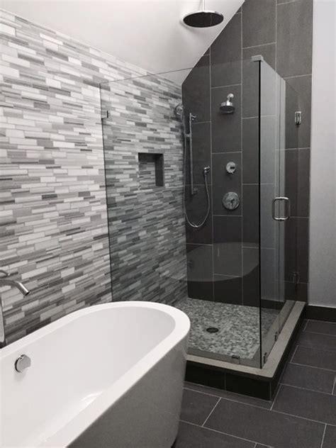Modern Bathroom Gray by Grey Modern Master Bathroom Modern Bathroom Boston